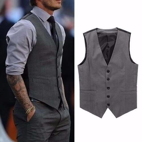 Traje Entallado Slim Fit 3 Piezas Color Gris