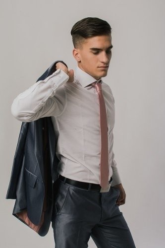 Camisas Entalladas Cuello Italiano - Dandy Smoking ae92ef4a20b