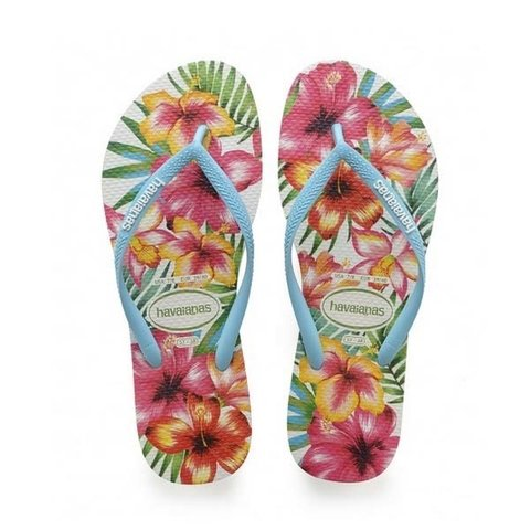 Chinelo Havainas Slim Hibisco