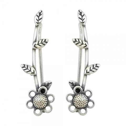 Brinco Ear Cuff Margarida - Prata 925