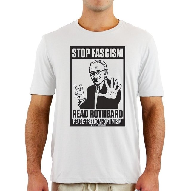 Camiseta Rothbard Stop Facism
