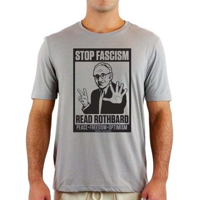 Camiseta Rothbard Stop Facism na internet