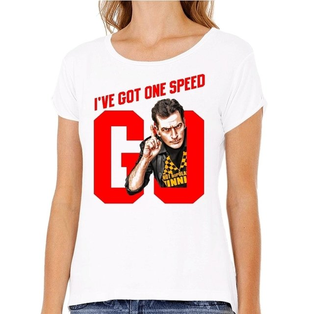 Camiseta Charlie Sheen I've Got One Speed Go na internet