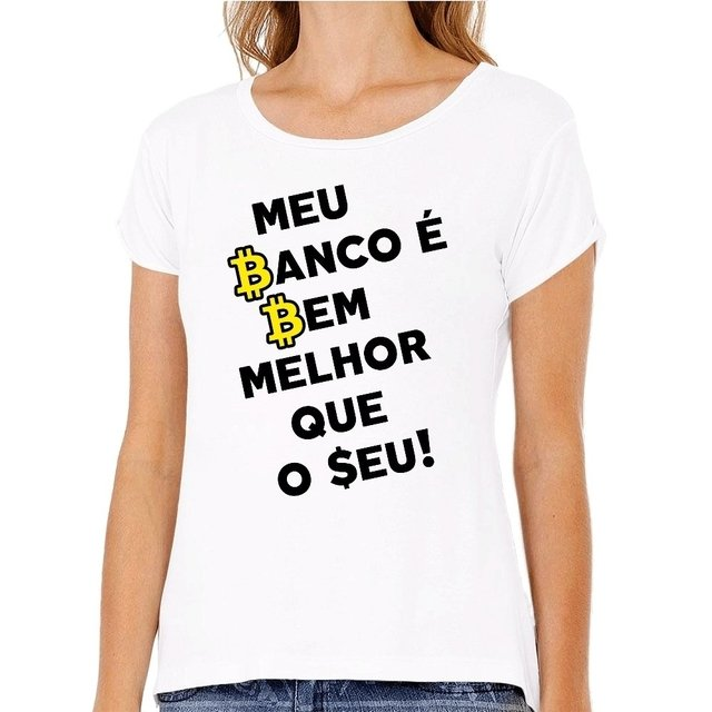 Camiseta Banco Bitcoin na internet