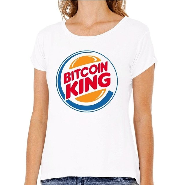 Camiseta Bitcoin King na internet