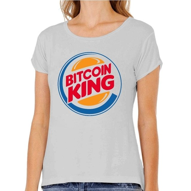 Camiseta Bitcoin King - Camisetas Libertárias