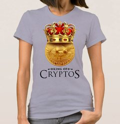 Baby Look Bitcoin King 2 (Cód. 011D) - Camisetas Libertárias