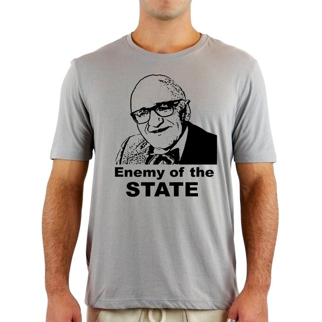 Camiseta Rothbard Enemy - Camisetas Libertárias
