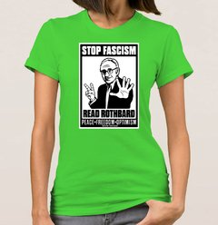 Imagem do Baby Look Rothbard Stop Facism (Cód. 066D)