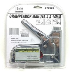 Grampeador Tapeceiro Manual LEE 4 a 14mm