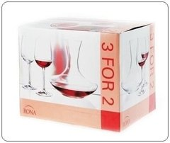 Set 2 Copas 450 Ml. + Decanter  1500ml. Decantador Rona - comprar online