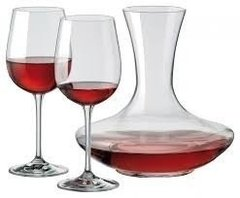 Set 2 Copas 450 Ml. + Decanter  1500ml. Decantador Rona