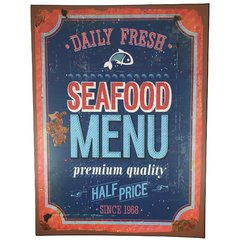 placa-metal-decorativa-seafood-menu-presentes