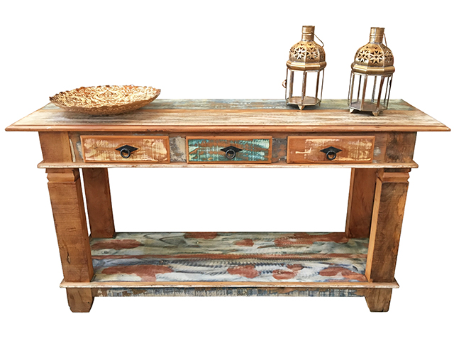 Reclaimed wood rustic sideboard Via Vila