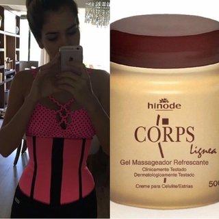 Cinta Modeladora Fitness Pink+ Gel Corps...