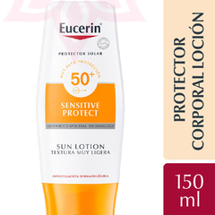 Eucerin Protector Solar Sensitive Protect Sun Lotion Text Muy Ligera FPS 50+ 150ml