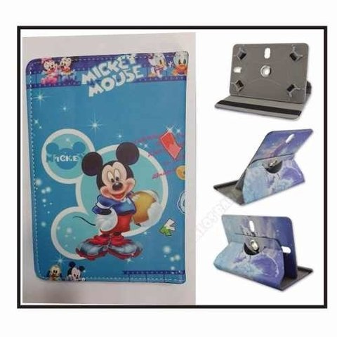 Fundas 7 Pulgadas Tablet Diseño Giratoria Kitty Mickey Etc