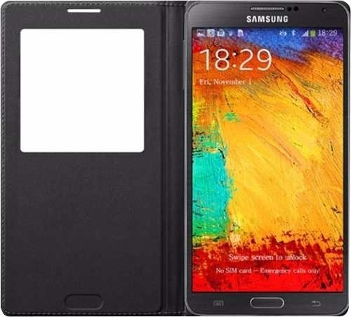 Flip Cover Samsung Note 3 Visor Colores Agenda Funda - TECNO2020
