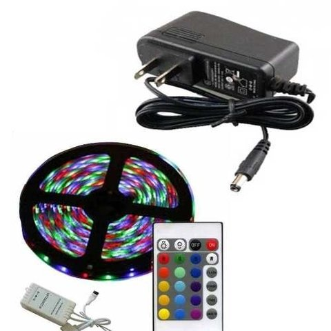 Tira De Led 5 Metros Impermeable Kit Completo