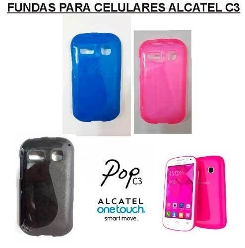 Funda Alcatel One Touch Pop C3 Tpu Negro Colores Protector