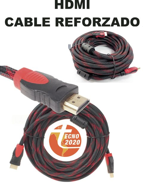 Cable reforzado hdmi a hdmi hd