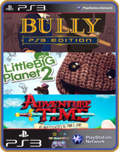 PS3 PACOTE IW 14 MÍDIA DIGITAL Bully LittleBigPlanet 2 Adventure Time: As investigações de Finn e Jake