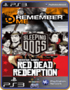PS3 PACOTE IW 15 MÍDIA DIGITAL Remember Me Sleeping Dogs Red Dead Redemption