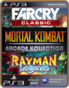 PS3 PACOTE IW 12 MÍDIA DIGITAL Far Cry Rayman Mortal Kombat