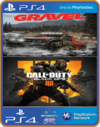 Ps4 Gravel  + Call Of Duty Black Ops 4 INGLÊS Original 1 Midia Digital