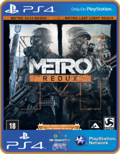 Ps4 Metro Redux Psn Original 1 Mídia Digital