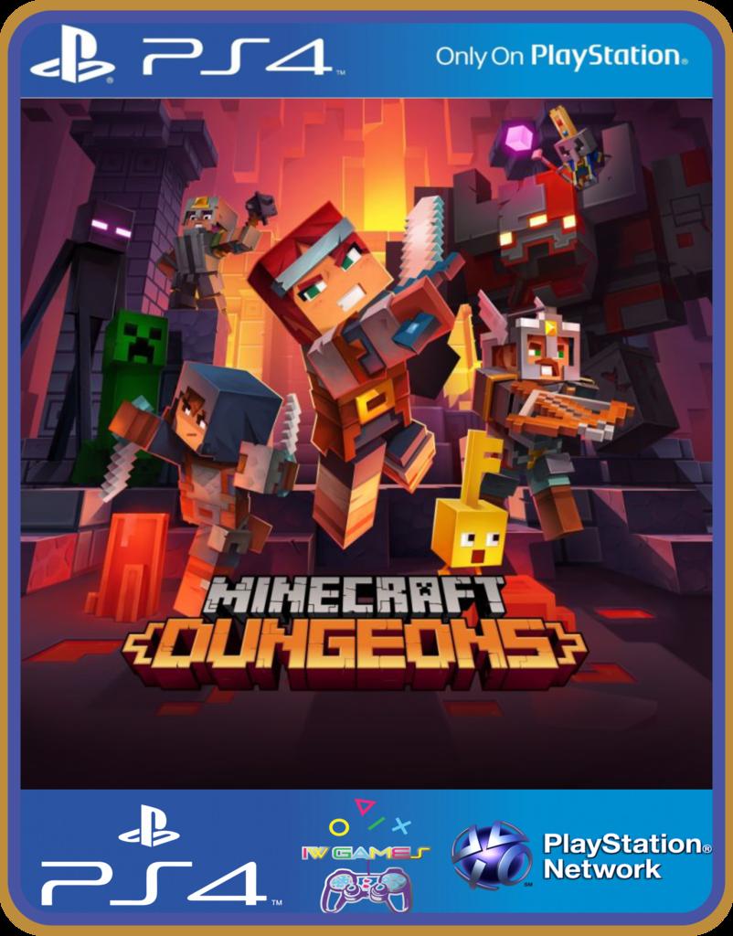 PS100 Minecraft Dungeons PSN ORIGINAL 10 MÍDIA DIGITAL