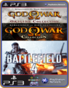 PS3 PACOTE IW 9 MÍDIA DIGITAL God Of War Battlefield 4