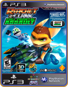 Ps3 Ratchet & Clank Full Frontal Assault - Midia Digital
