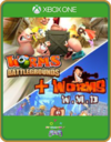 XBOX ONE PRIMÁRIA WORMS BATTLEGROUNDS E WORMS W.M.D