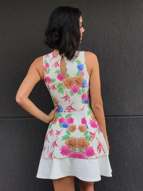 Vestido Floral Off White en internet