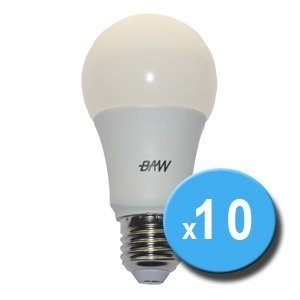 Lampara LED Bulbo A60 8.5W 25.000hs 806Lm x10u OFERTA