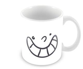Caneca Emoji Bobo Alegre - Coleção Amantes