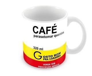 Caneca Personalizada Remédio Café Parasetomar Quentim - 320 ml