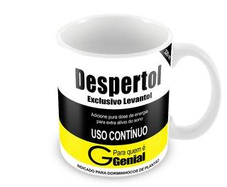 Caneca Personalizada Remédio Despertol Exclusivo Levantol 320 ml