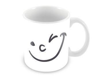 Caneca Emoji Piscadinha - Coleção Amantes
