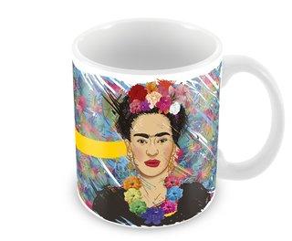 Caneca Personalizada Porcelana Frida Kahlo 320 ml