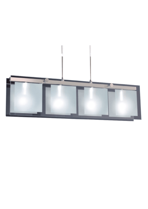 Colgante Escorpio II de 4 luces apto LED
