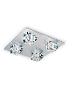 Plafon Glass Cristal biselado - Apto LED
