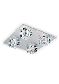 Plafon Glass de 4 luces - Apto LED