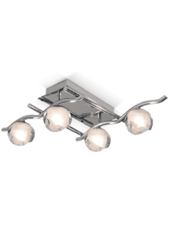 Plafon Knik de 4 luces - Apto LED
