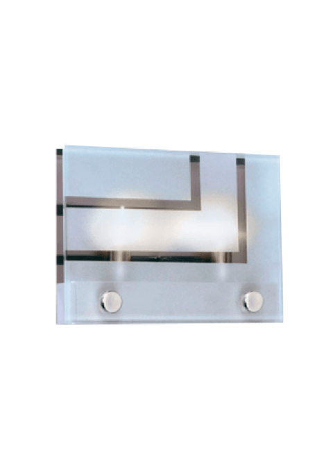 Aplique Nucia 2 luces horizontal apto LED