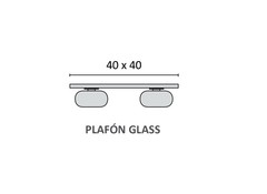 Plafon Glass de 4 luces - Apto LED - comprar online