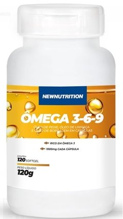 OMEGA 3 3-6-9 1000MG - 120 CAPS - NEW NUTRITION