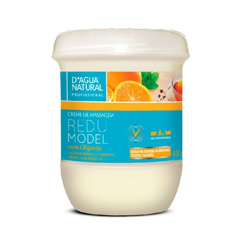 D'AGUA NATURAL -Creme de Massagem REDU MODEL 650g