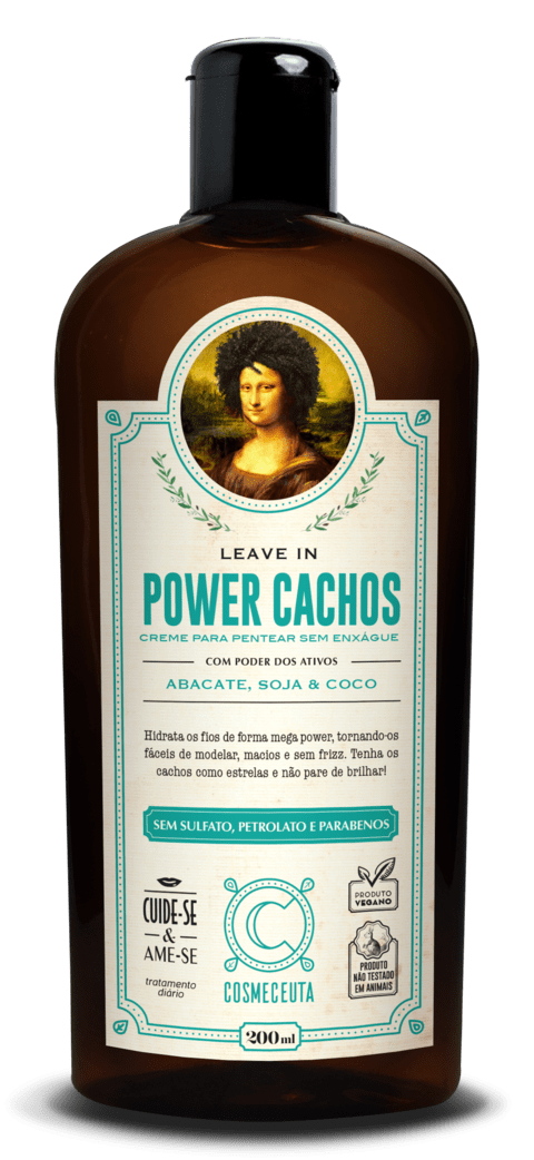 COSMECEUTA (Linha Vegana) Leave in - Power Cachos 200ml